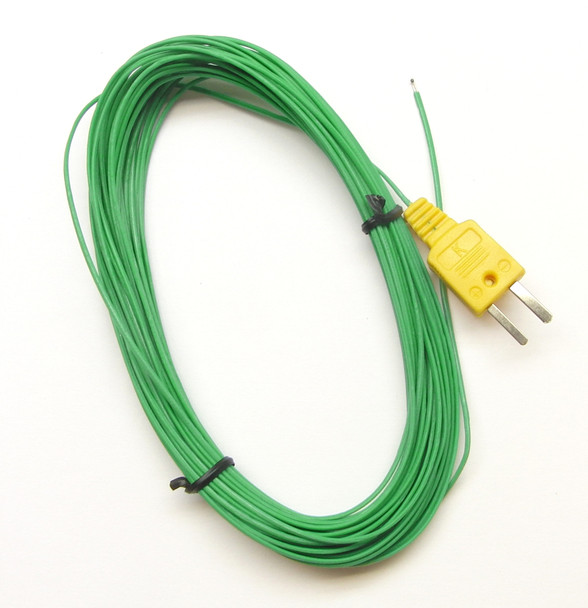 Extra Long 49ft 15m K-Type Thermocouple Wire Probe on