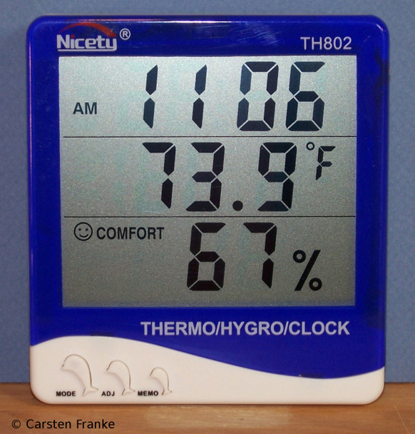 Inside Outside Thermometer with Wired Outdoor Temperature Sensor