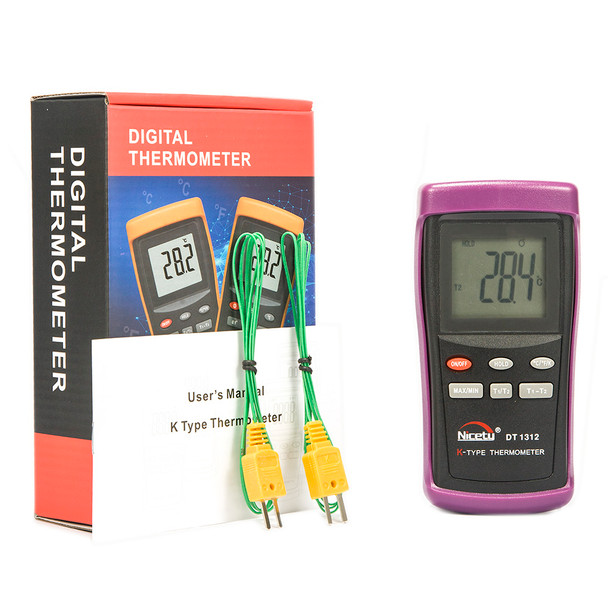 Digital two input K-type thermometer DT1312