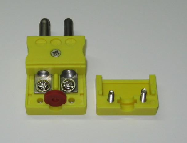 The Standard K-Type thermocouple connector has a red rubber seal to keep dirt out