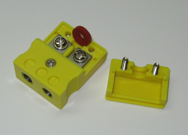 Standard k-type thermocouple connector socket female, with terminal screws