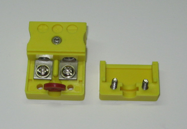 Standard k-type thermocouple connector socket female, with rubber dust seal