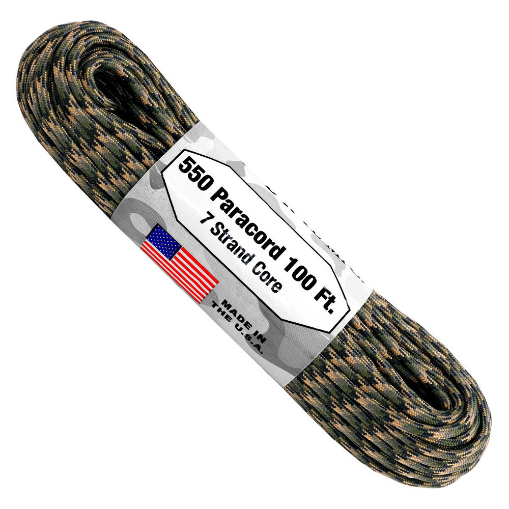 Paracord 550 Atwood Ropes - 100 ft (Forest Camo)