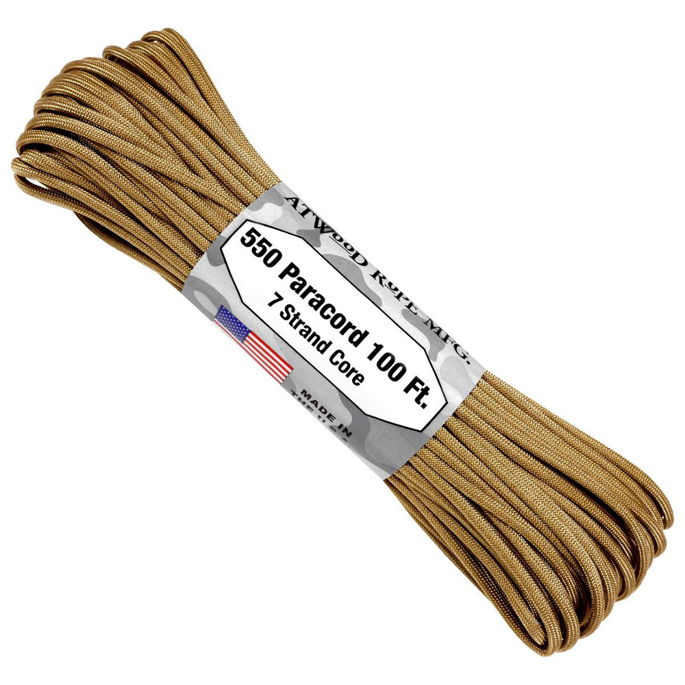 Paracord 550 Atwood Ropes - 100 ft (Tan)