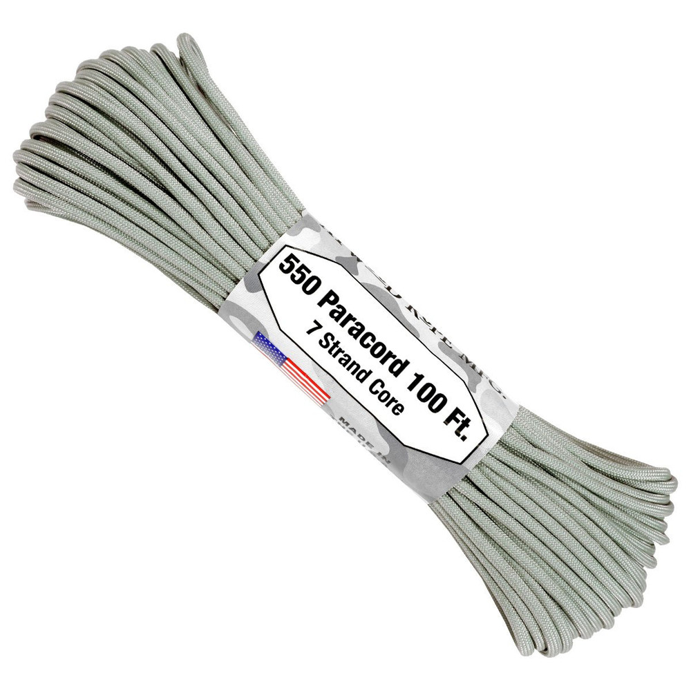 Paracord 550 Atwood Ropes - 100 ft (Grey)