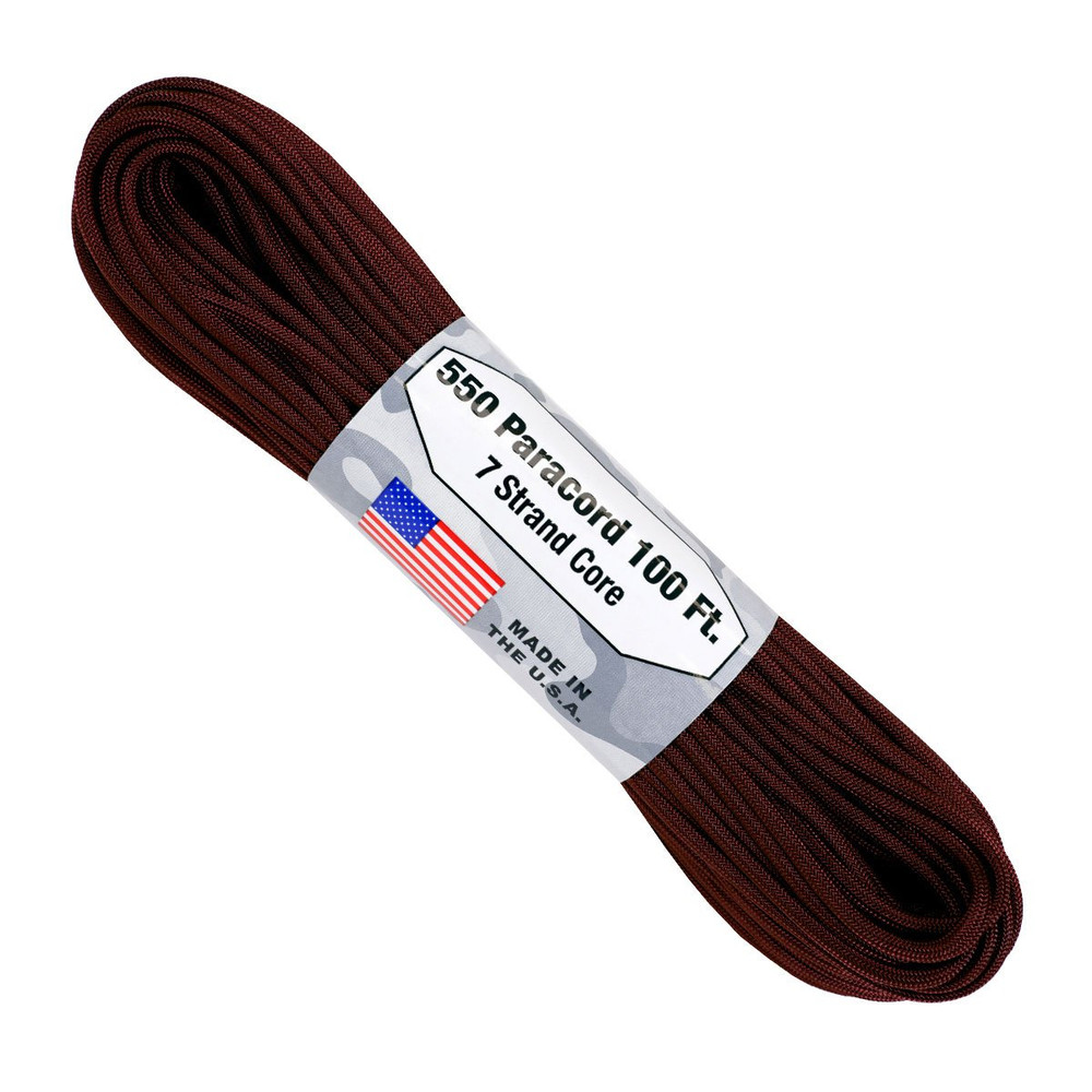 Paracord 550 Atwood Ropes - 100 ft (Maroon)