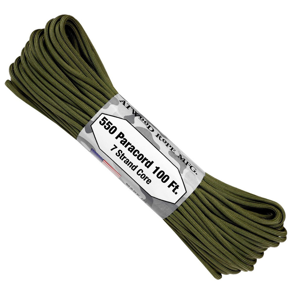 Paracord 550 Atwood Ropes - 100 ft (Olive Drab)