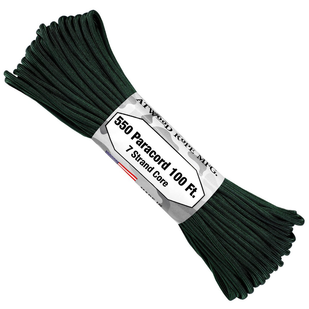 Paracord 550 Atwood Ropes - 100 ft (Hunter)