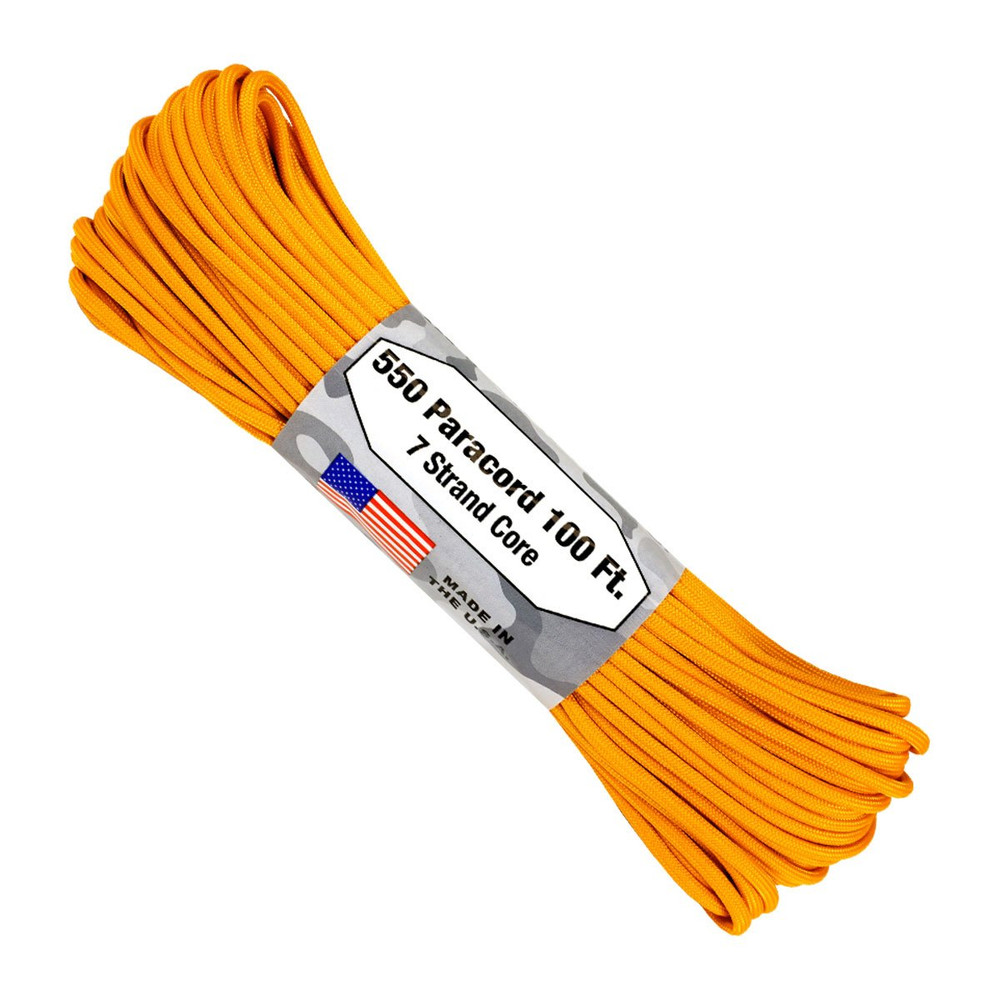 Paracord 550 Atwood Ropes - 100 ft (Airforce Gold)