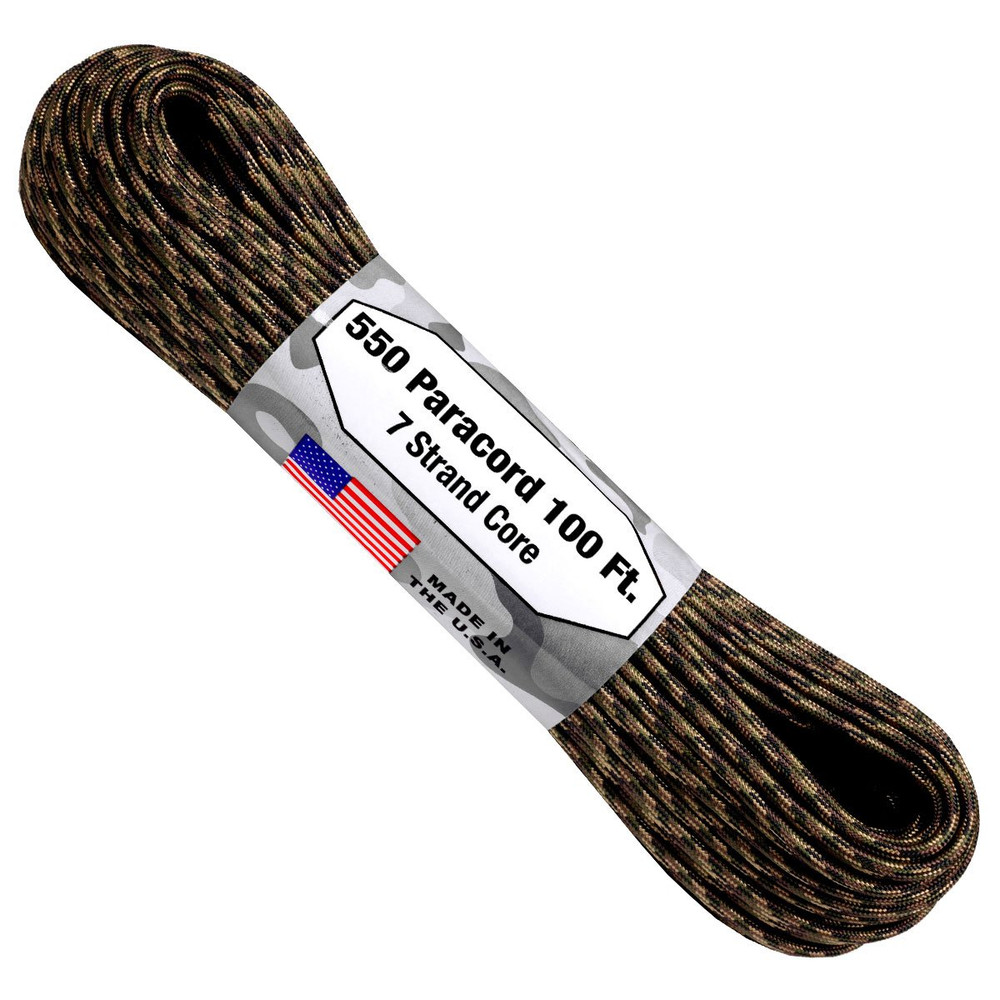 Paracord 550 Atwood Ropes - 100 ft (Ground War)