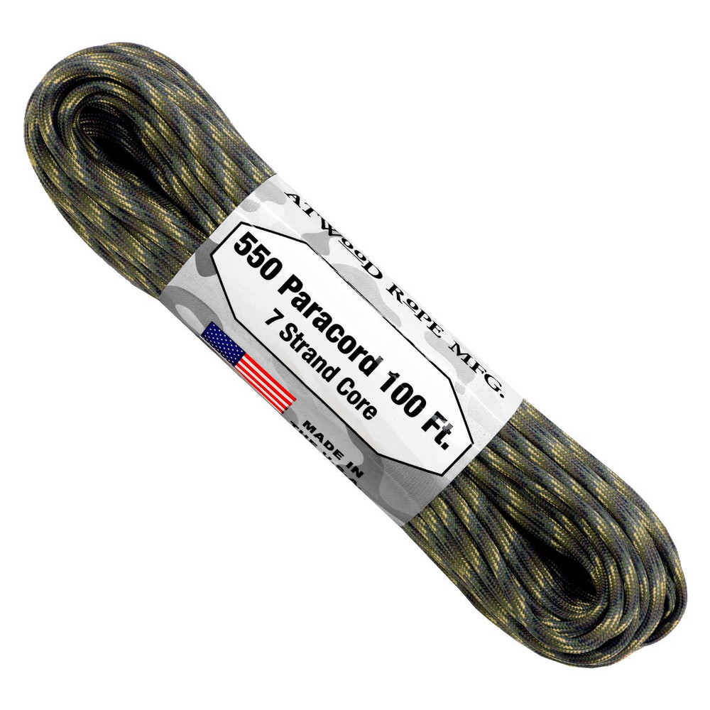 Paracord 550 Atwood Ropes - 100 ft (Scout)