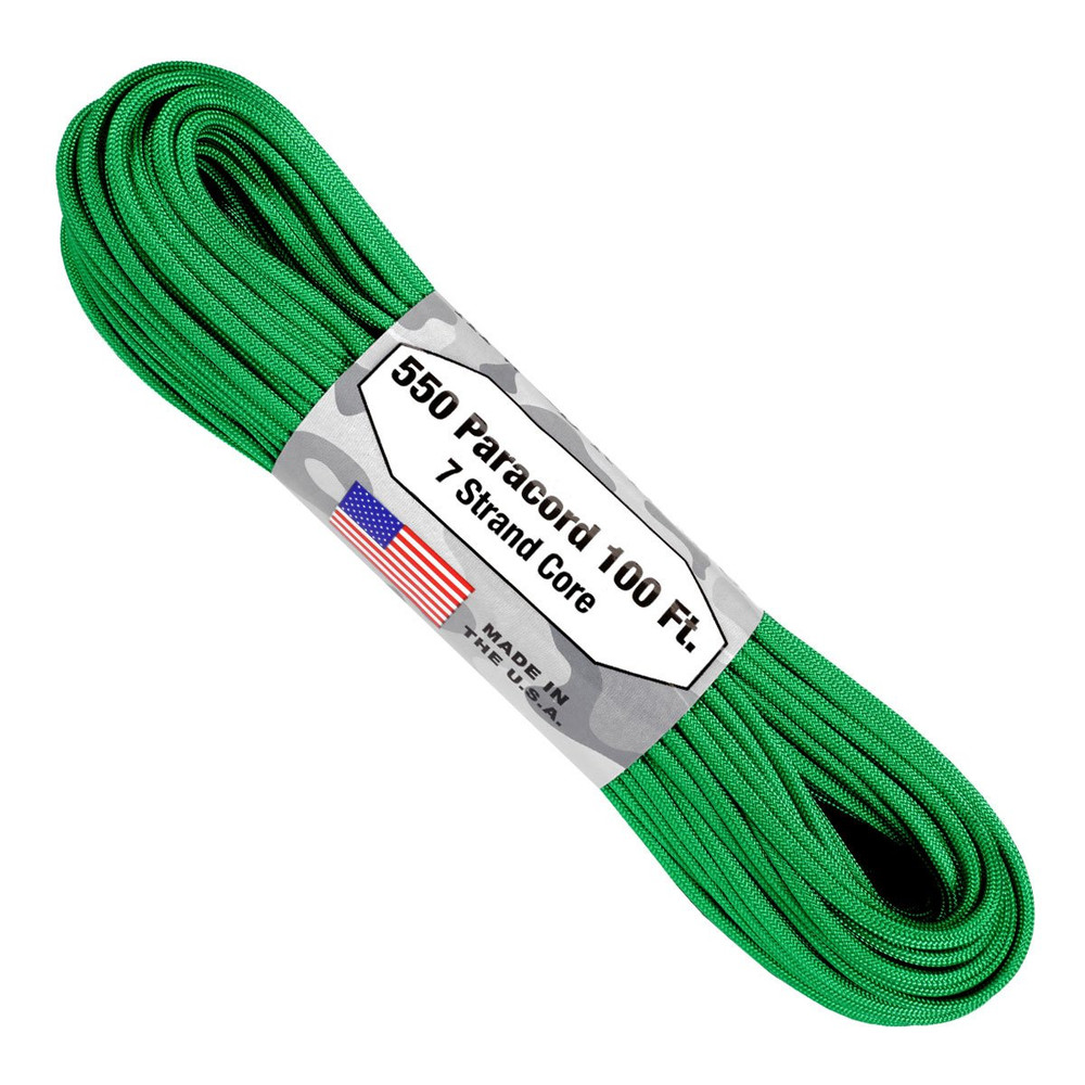 Paracord 550 Atwood Ropes - 100 ft (Green)