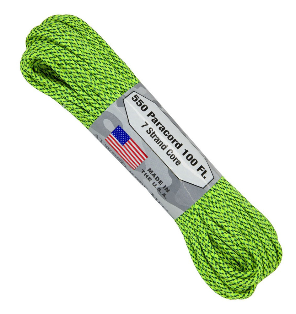 Paracord 550 Atwood Ropes - 100 ft (Green Spec)