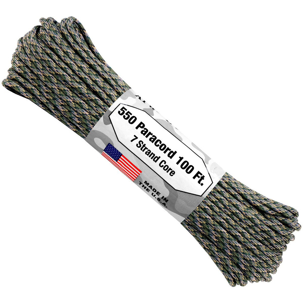 Paracord 550 Atwood Ropes - 100 ft (Jäger Camo)