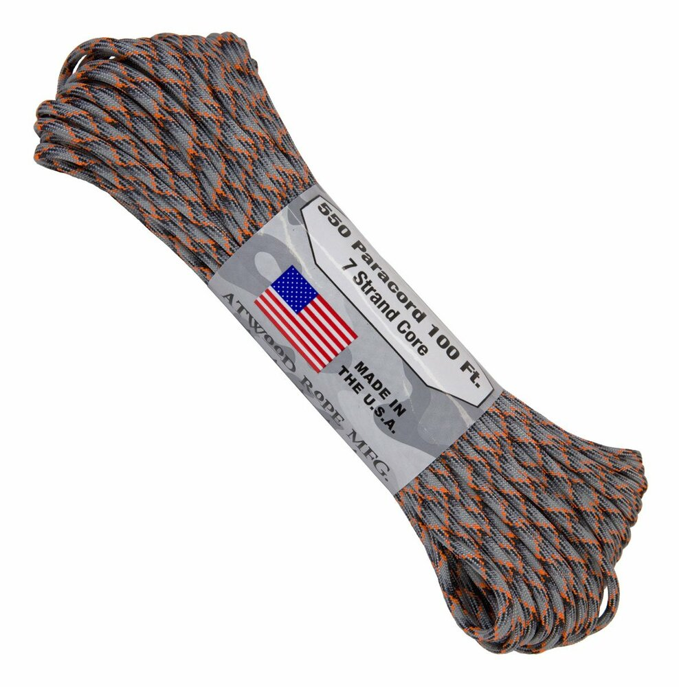 Paracord 550 Atwood Ropes - 100 ft (Die Cast)
