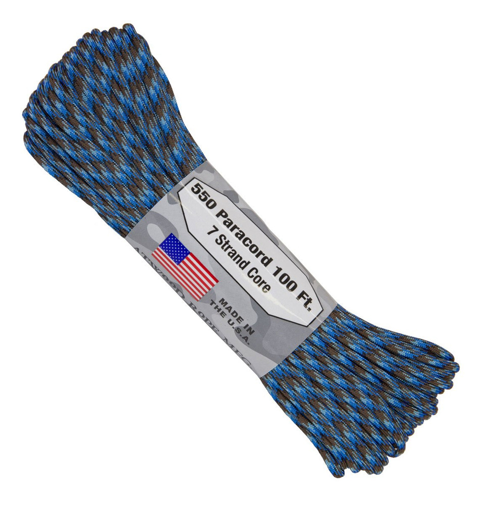 Paracord 550 Atwood Ropes - 100 ft (Abyss)
