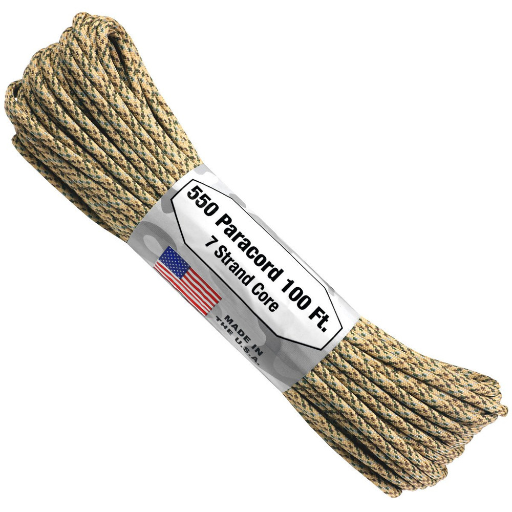 Paracord 550 Atwood Ropes - 100 ft (Desert)