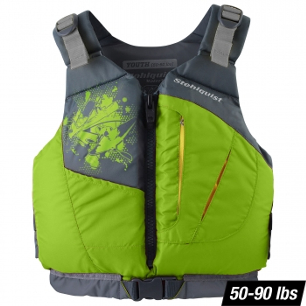 Chaleco Stohlquist Escape para Niños - Lime 50-90 lbs.
