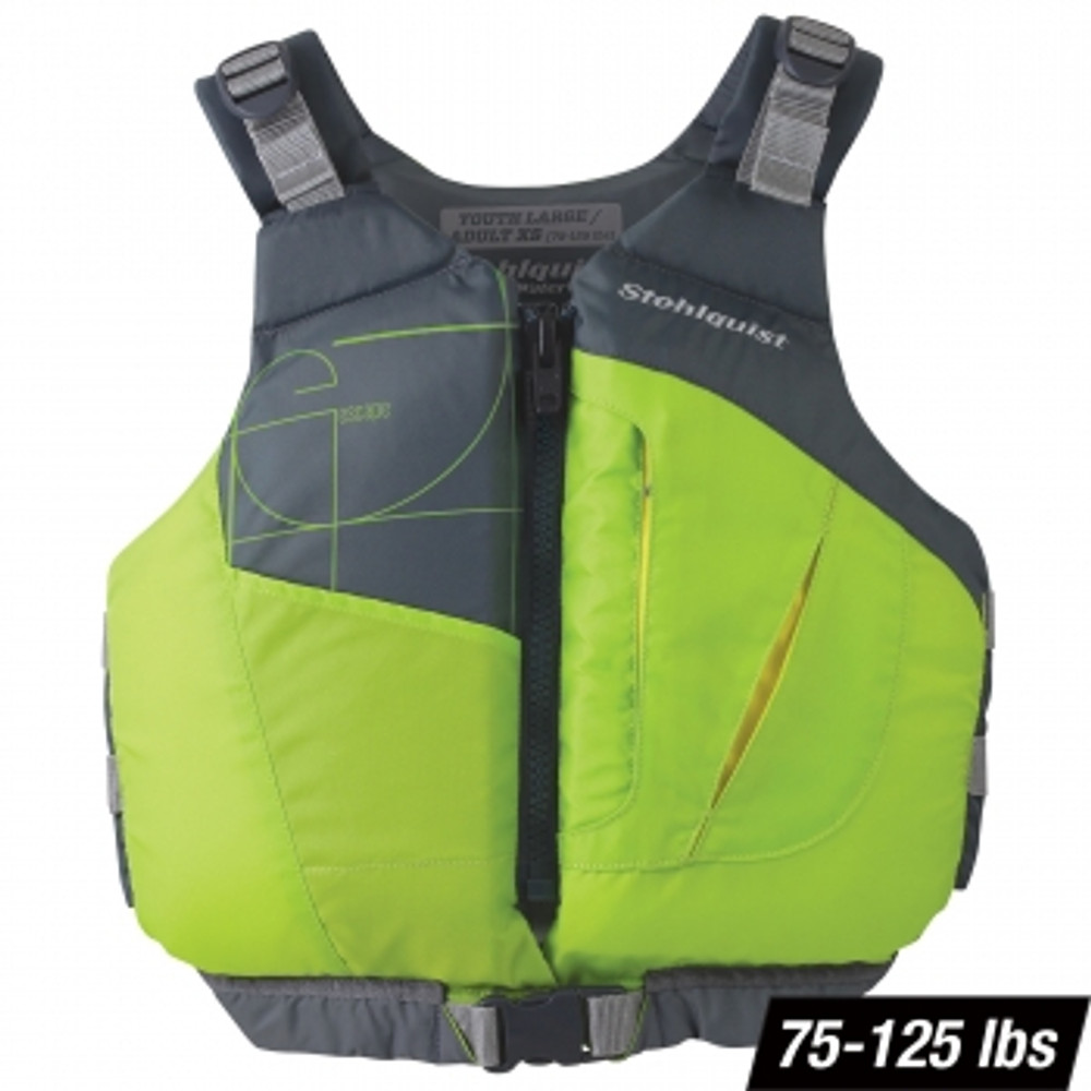 Chaleco Stohlquist Escape para Niños - Lime 75-125 lbs.