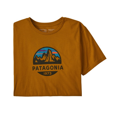 Patagonia Men's Fitz Roy Scope Organic Cotton T-Shirt - Hammonds Gold
