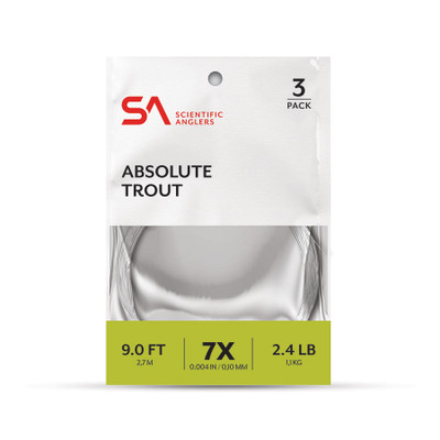 Leader de fly Scientific Anglers Absolute Trout 3-pack