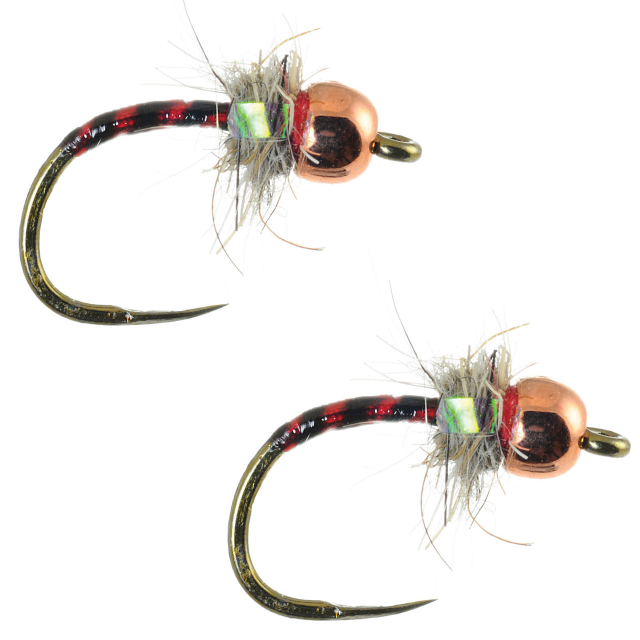 Umpqua Iron Lotus Egan/'s Olive Tungsten 2 Pack Nymph Fly Fishing Flies