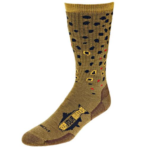 RepYourWater Brown Trout Skin Socks