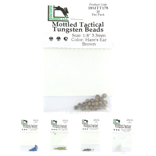 Hareline Mottled Tactical Tungsten Beads