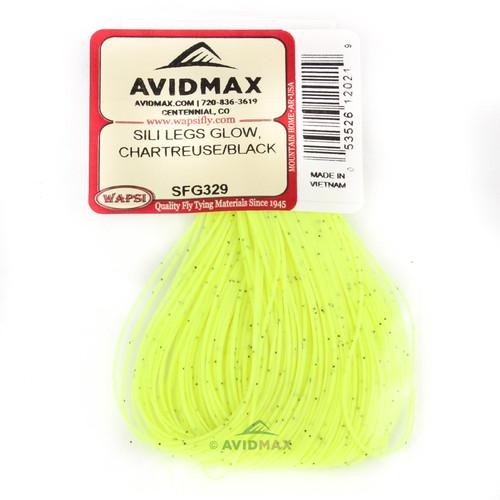 Wapsi Glow Sili Legs - Chartreuse/Black