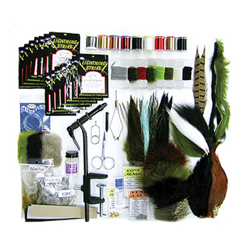 Wapsi Deluxe Fly Tying Starter Kit with Handbook