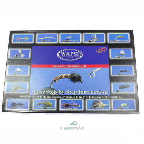 Wapsi Deluxe Fly Tying Starter Kit with Handbook