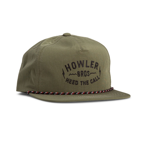 Howler Brothers Painted Howler Snapback - Olive Nylon
