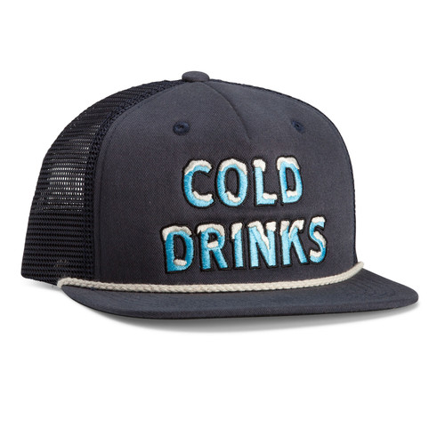 Howler Brothers Cold Drinks Snapback - Deep Blue
