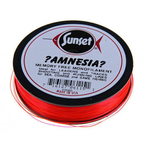 Amnesia Memory Free Monofilament Line Fl. Red