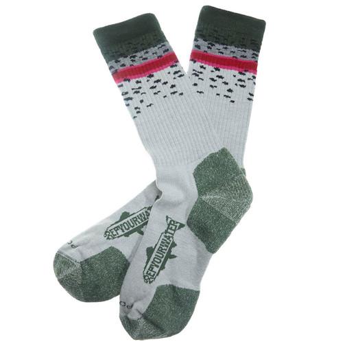 RepYourWater Rainbow Trout Skin Mid-weight socks