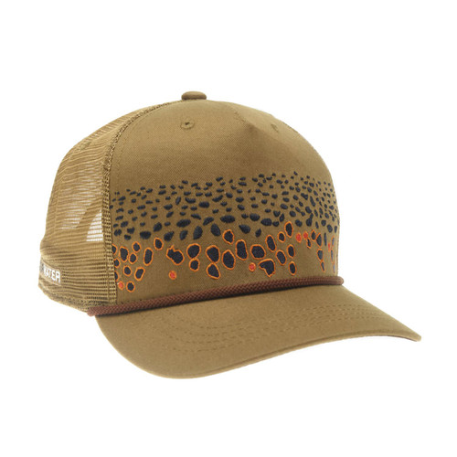 RepYourWater Brown Trout Skin 2.o 5-Panel Hat Clay