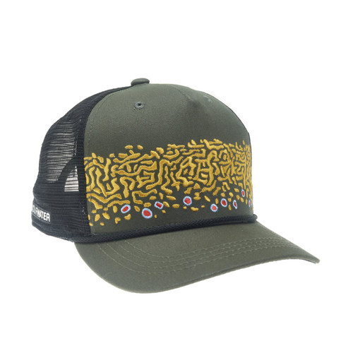 RepYourWater Brook Trout Skin 2.o 5-Panel Hat Green/Black