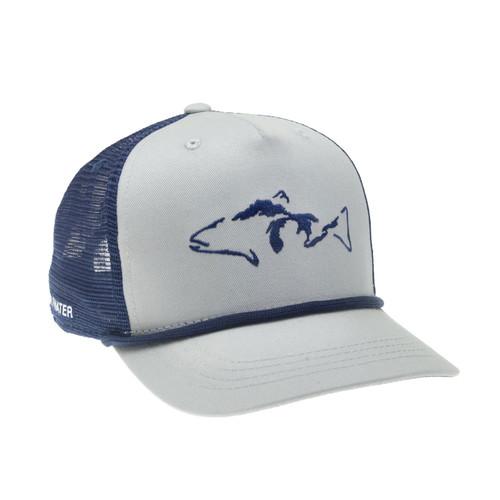 RepYourWater Great Lakes Proud 5-Panel Hat  Lt Gray/Navy