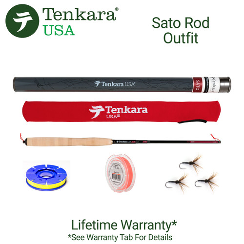 "Tenkara USA -Sato 10'8"" - 12'9"" Telescoping Fly Rod and Level Line Outfit"