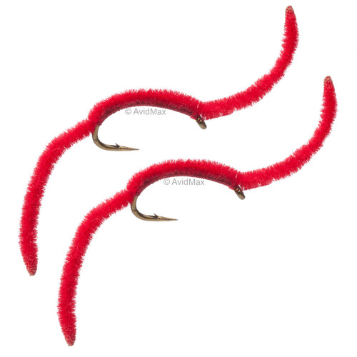 Umpqua San Juan Worm - Red 2 Pack