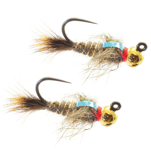 Umpqua Jigged Hare's Ear Tungsten Gold Bead 2 Pack