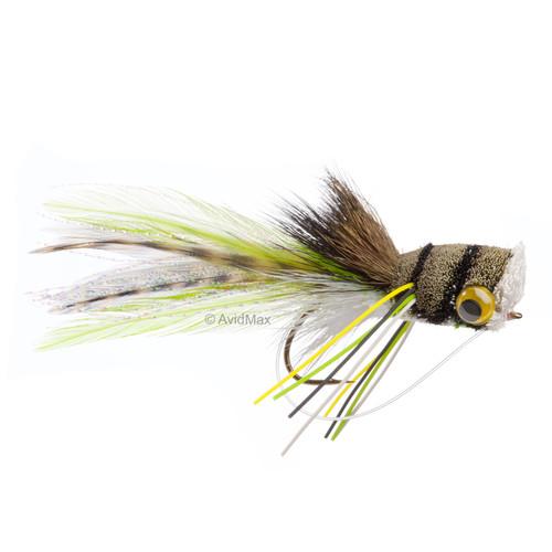 Umpqua Deerhair Bass Bug Frog Bass Surface
