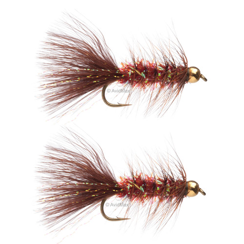 Umpqua Gold Crystal Bugger Copper/Brown 2 Pack