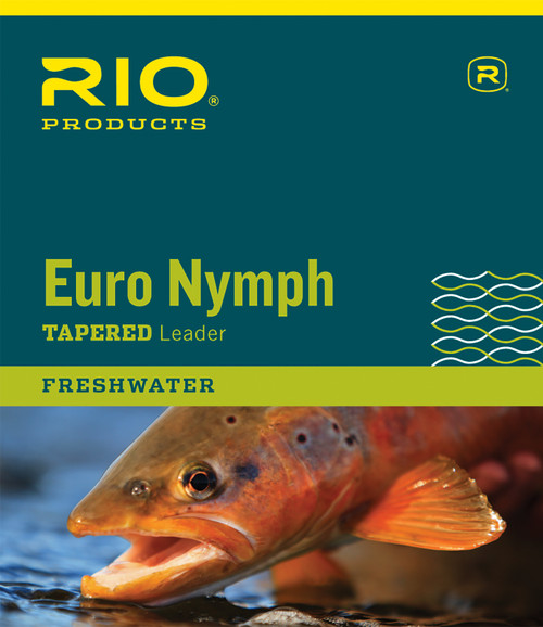 RIO 2-Tone European Nymph Trout Fly Line Leader w/ Tippet Ring