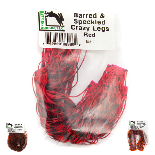 Hareline Barred & Speckled Crazy Legs