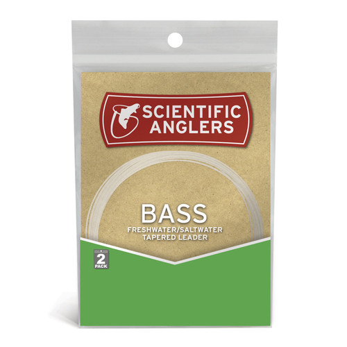Scientific Anglers Freshwater Bass Tapered Fly Fishing Leaders - 2 Pac