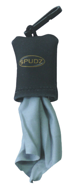 "Alpine Innovations 10""x10"" Black Spudz Lens Cloth"