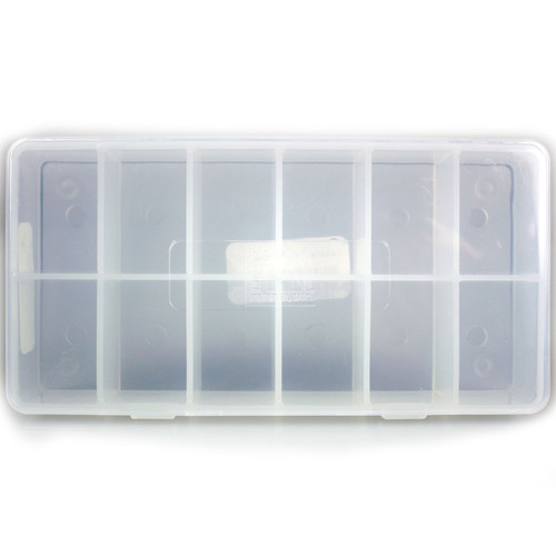 Hareline 12 Compartment Drilled Dubbing Box Fly Tying Storage