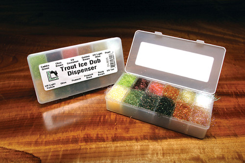 Hareline Trout Ice Dub Dispenser Synthetic Fly Tying Material