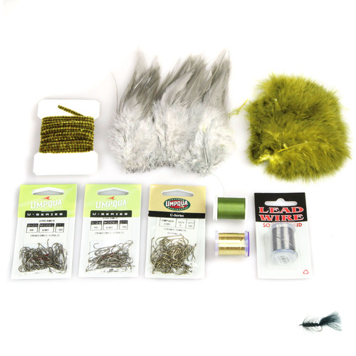 AvidMax Wooly Bugger Fly Tying Pattern Materials Kit